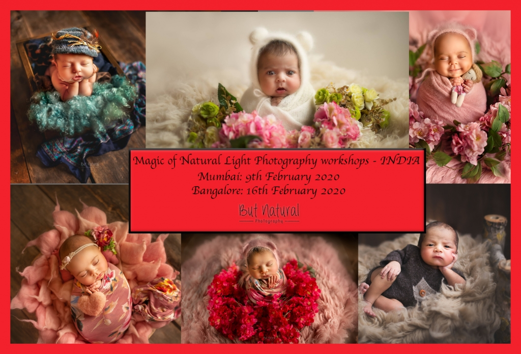 INDIA 2020- But Natural Photography Newborn Baby Posing Workshops