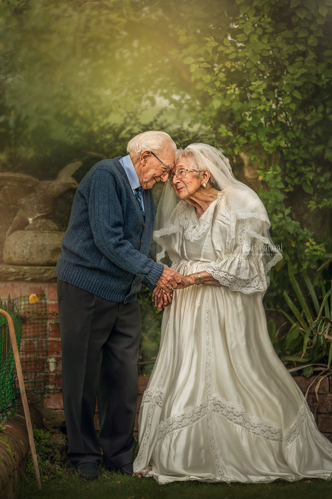 Elder couple head touch with love | Elderly Photoshoot by Sujata Setia - But Natural Photography
