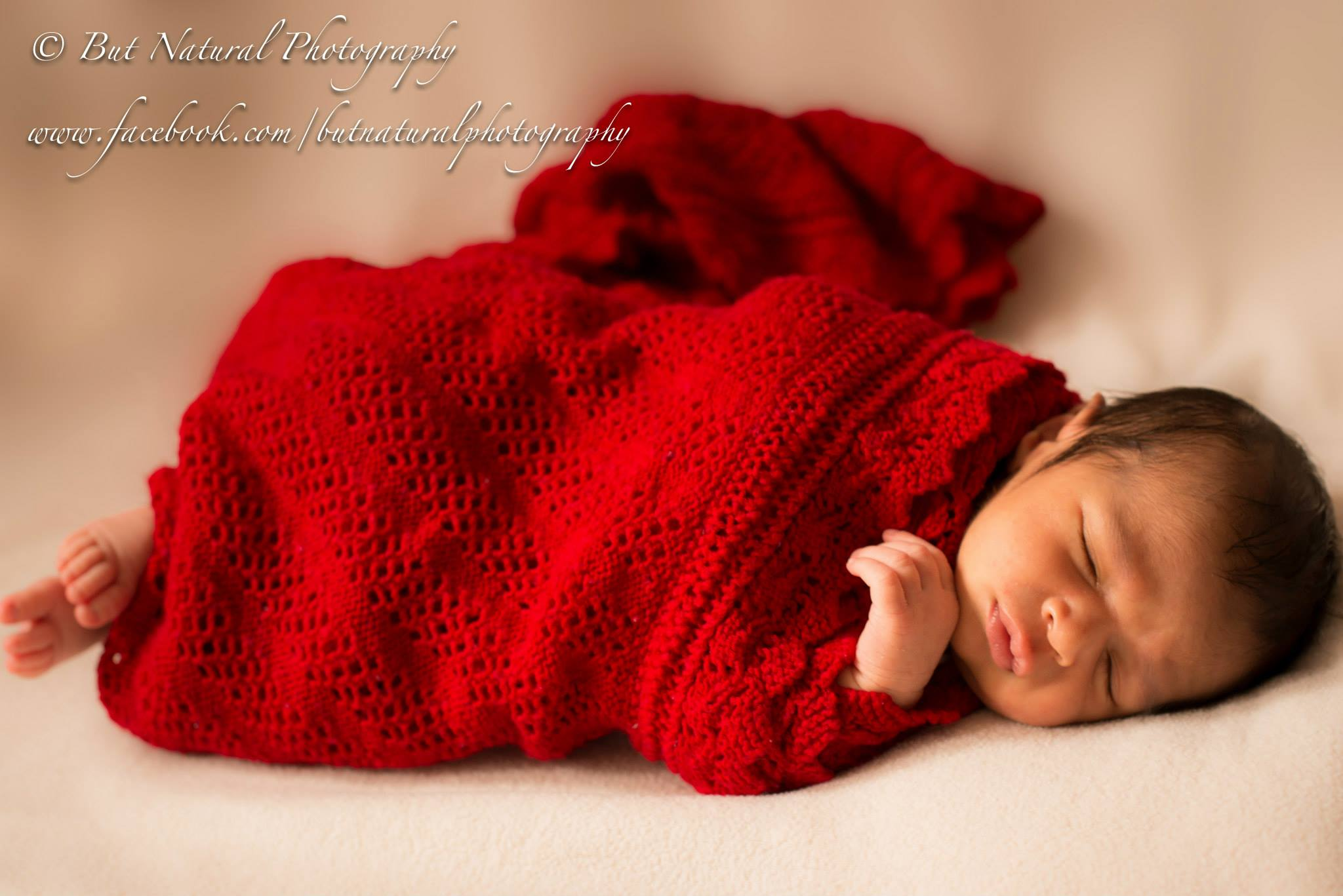 Newborn baby wrapped in a blanket for newborn baby photoshoot by Sujata Setia | But Natural Photography