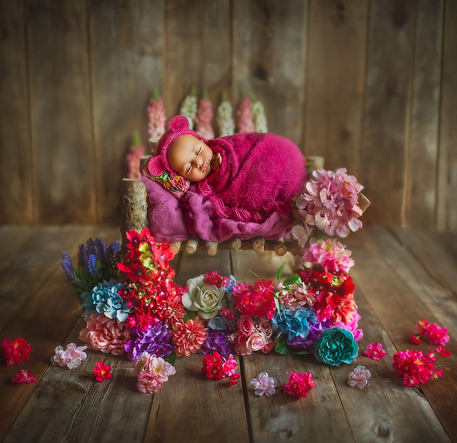Newborn with prop for Baby Photoshoot by Sujata Setia - But Natural Photography